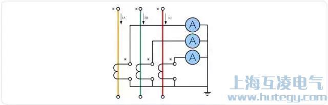 三相完全星形电流互感器接线图