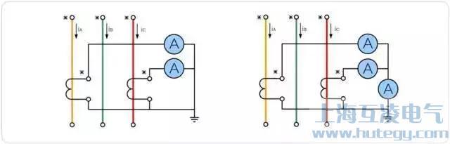 两相不完全星形接线形式电流互感器接线图